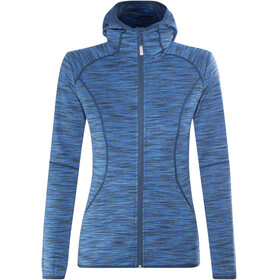 Meru Sitia Fleece Hoody Women Petrol Multicolor
